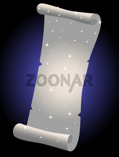 Vector illustration of a white parchment scroll