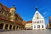 Rothenburg Rathaus und Ratstrinkstube - Rothenburg town hall and Councillors Tavern
