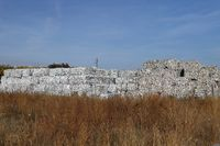 Plastic and paper bales at the waste processing plant