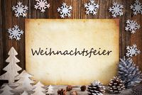 Old Paper, Christmas Decoration, Weihnachtsfeier Means Christmas Party