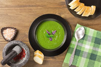 Broccoli creamy soup puree