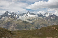 View closeup mountains scene in national park Zermatt, Switzerland