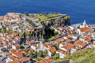 Aerial View Camara De Lobos  Madeira Portugal