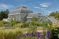 Kaisaniemi botanic garden and its greenhouse in Helsinki Finland