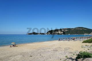 Badebucht von Agios Georgios Pagon, Korfu, Griechenland