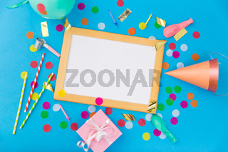 white board, birthday gift and party props
