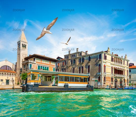 Vaporetto stop in Italy