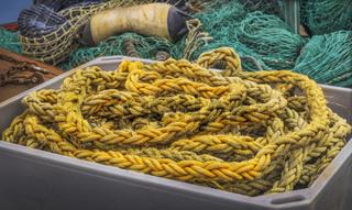 Fischernetze im Hafen von Kappeln (Schleswig-Holstein)