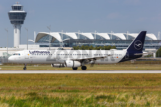 Lufthansa Airbus A321 airplane Munich airport