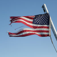 waving flag in the sky