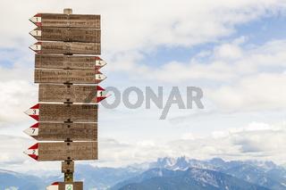 Wandern am Rittner Horn, Südtirol, Italien, hiking at the Rittner Horn, South Tyrol, Italy
