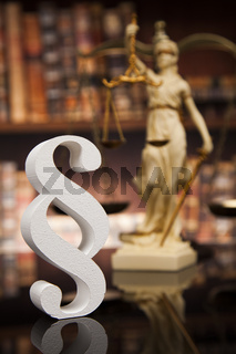 Court gavel,Law theme, mallet of justice, Paragraph, mirror background