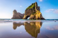 Rock Formations on Wharariki Beach, New Zealand