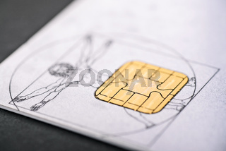 Elektronische Gesundheitskarte mit Chip