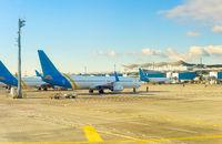 Airplanes, airport, runway, terminal, Kiev