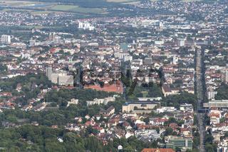 Stadtansicht  Kassel aus der Luft