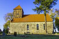 Dorfkirche Gandenitz, Brandenburg, Deutschland