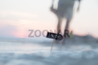 beach vacations, travel idea, blurred photo for background