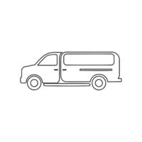 Work Van Icon Vector