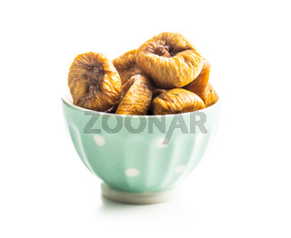 Sweet dried figs in bowl.