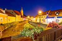 Samobor creek and old streets evening view