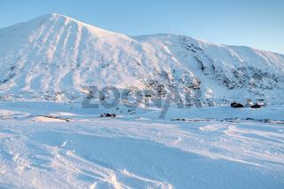 Winterlandschaft, Hasvik, Soeroeya, Finnmark