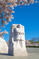 Washington DC – April 3, 2019: Martin Luther King Jr. Memorial is located in West Potomac Park Washington DC