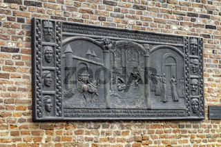 Siegfried-Relief am Nordwall in Xanten
