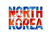 north korea flag text font