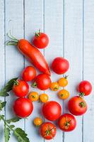 Tasty various tomatoes.