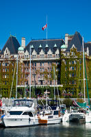 VICTORIA, BRITISH COLUMBIA, CANADA - AUGUST 25, 2011: The harbour in the city of Victoria