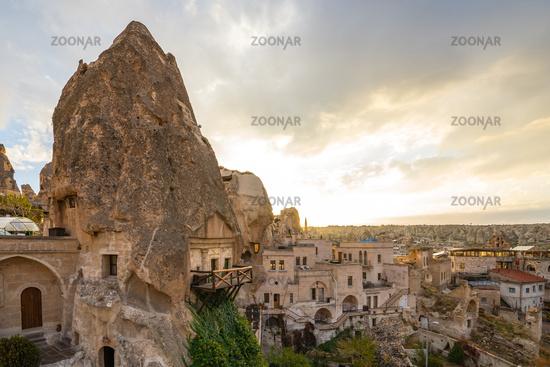 Cappadocia cityscape skyline in Goreme, Turkey