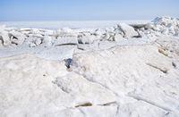 Winter landscape - melting ice