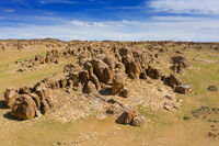 Rock formations and stones in Mongolia