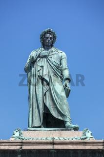 Schiller statue in Stuttgart Germany