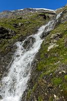 Wasserfall im Val de Bagnes, Wallis, Schweiz