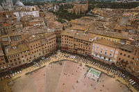 Panoramic view of Piazza del Campo