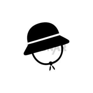 Rain cap. Isolated icon. Fall clothing vector illustration