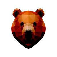 Low poly illustration. Bear