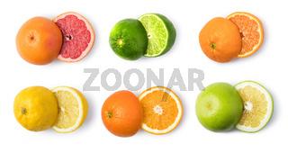 citrus fruit set