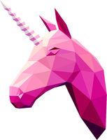 Low poly illustration. Unicorn