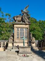 Old historic cemetry in Prague