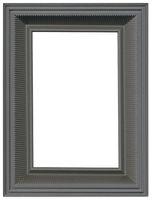 Grey Metallic Picture Frame Cutout