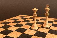 3D Illustration eines Schachbrettes