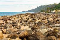 The Sicilian coast