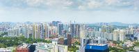 Singapore living district panoramic view