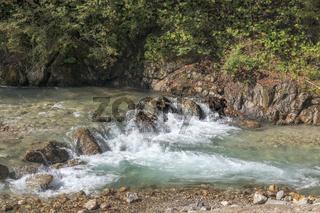 Wasserstrudel, Wildbach Partnach, Garmisch-Partenkirchen