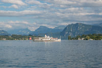 Panorama of Lucerne lake and mountains scene in Lucerne, Switzerland