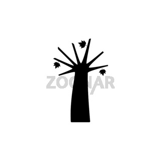Autumn tree. Isolated icon. Fall fruits vector illustration