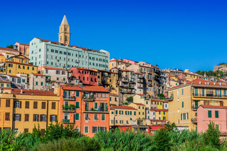 View of Ventimiglia in the Province of Imperia